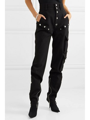 Mugler zip-detailed tech-scuba tapered pants