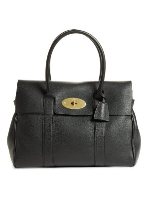 Mulberry bayswater pebbled leather satchel