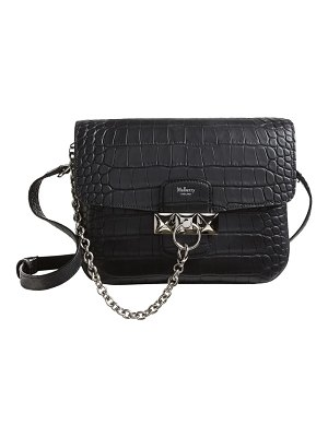 Mulberry keeley croc embossed leather satchel