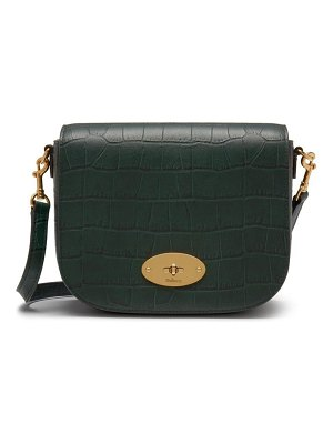 Mulberry small darley croc embossed leather crossbody bag