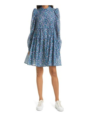 MUNTHE triangle floral long sleeve dress