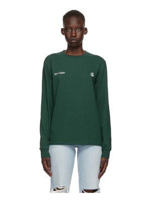 Museum of Peace & Quiet green cotton 'arts + leisure' long sleeve t-shirt