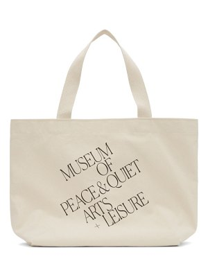 Museum of Peace & Quiet off-white 'arts + leisure' tote