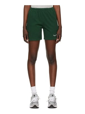 Museum of Peace & Quiet ssense exclusive green word mark gym shorts