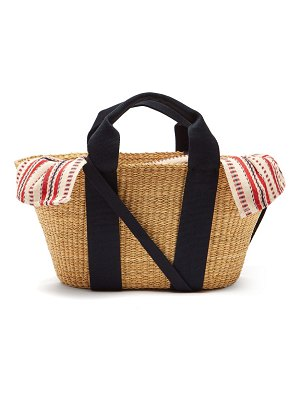 MUUÑ george woven straw basket bag