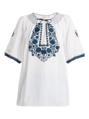 MUZUNGU SISTERS eva embroidered cotton top
