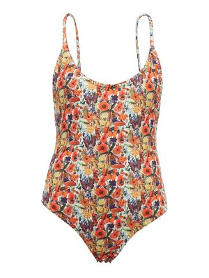 MUZUNGU SISTERS holly poppy-print swimsuit