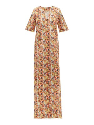 MUZUNGU SISTERS lotus poppy-print cotton-twill kaftan