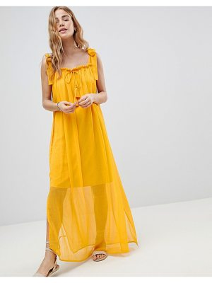 MW By Matthew Williamson MW by Matthew Williamson tassle tie maxi beach dress