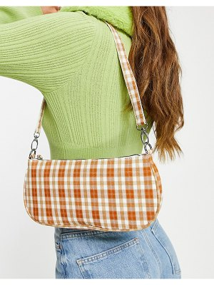 My Accessories london 90's shoulder bag in check print-multi