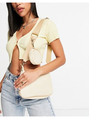 My Accessories london crossbody bag with coin purse in natural-neutral
