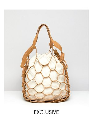 My Accessories london cutout tote bag with canvas lining