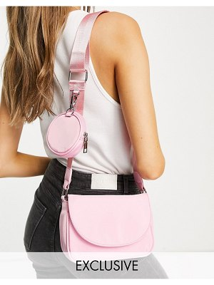 My Accessories london exclusive cross body bag with coin purse in pink