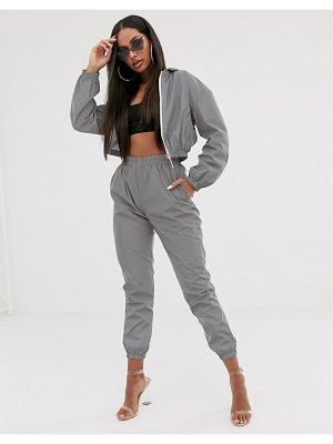 My Mum Made It reflective tracksuit pants two-piece-silver