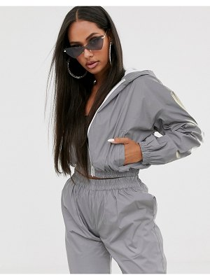 My Mum Made It reflective tracksuit top two-piece-silver
