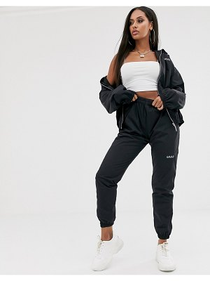 My Mum Made It relaxed cargo pants with reflective logo two-piece-black