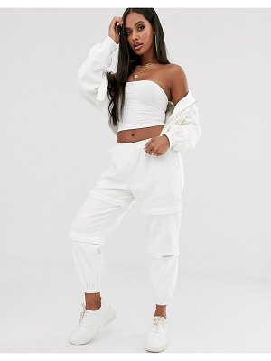 My Mum Made It relaxed zip off cargo pants in cord two-piece-white