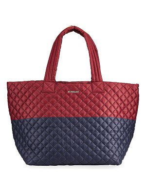 MZ Wallace Metro Deluxe Large Bicolor Quilted Tote Bag