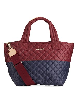 MZ Wallace Metro Deluxe Small Bicolor Quilted Tote Bag