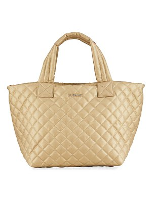 MZ Wallace Metro Deluxe Small Metallic Quilted Tote Bag
