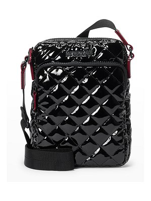 MZ Wallace Metro Patent Quilted Crossbody Bag