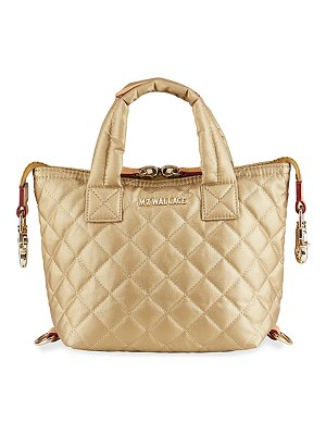 MZ Wallace Micro Sutton Metallic Quilted Tote Bag
