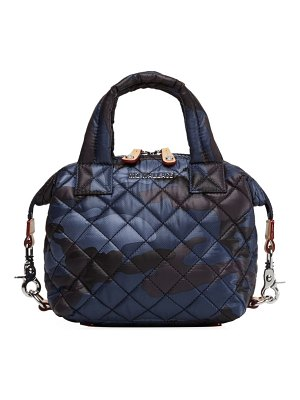MZ Wallace micro sutton quilted camouflage satchel