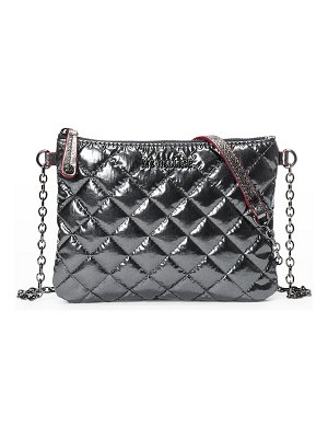 MZ Wallace Ruby Metallic Quilted Crossbody Bag