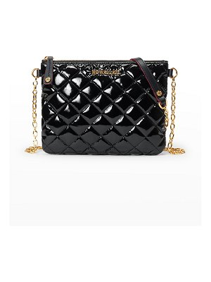 MZ Wallace Ruby Patent Quilted Crossbody Bag