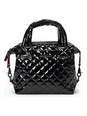 MZ Wallace Sutton Deluxe Small Patent Quilted Crossbody Bag