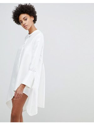 N12H Early On Asymettric Shirt Dress