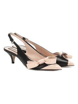 N°21 leather slingback pumps