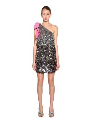 N°21 One shoulder sequined mini dress