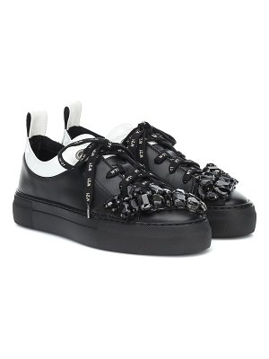 N°21 gymnic embellished leather sneakers