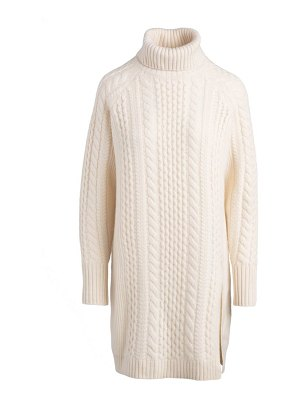 NAADAM cable turtleneck sweater dress