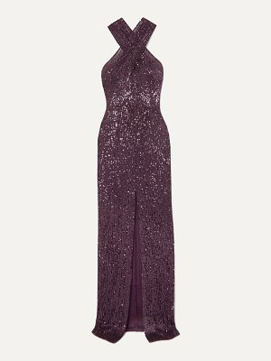 Naeem Khan cutout sequined tulle gown