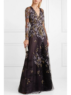 Naeem Khan embroidered tulle gown