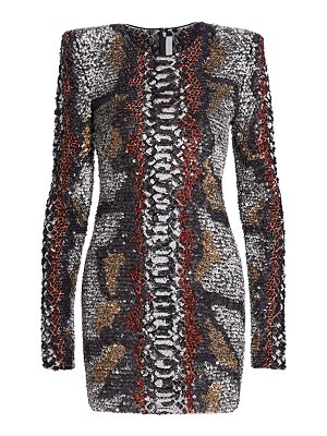 Naeem Khan python-print bodycon dress