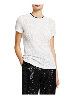 Naeem Khan Sequin Top with Piping