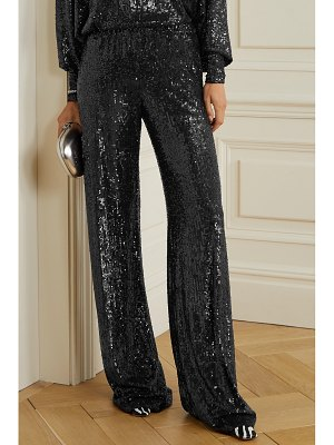 Naeem Khan sequined knitted wide-leg pants