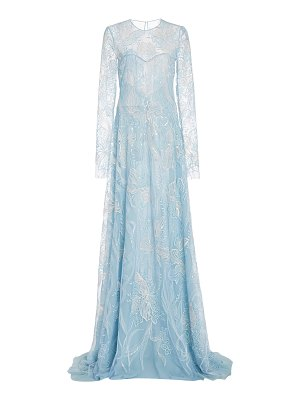 Naeem Khan sequined leavers lace gown