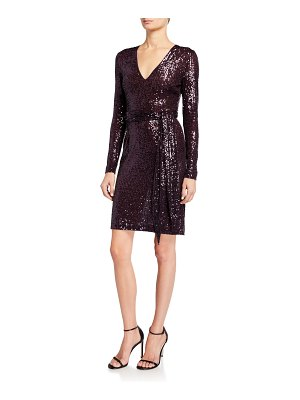 Naeem Khan Sequined Short Wrap Dress