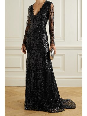 Naeem Khan sequined tulle gown