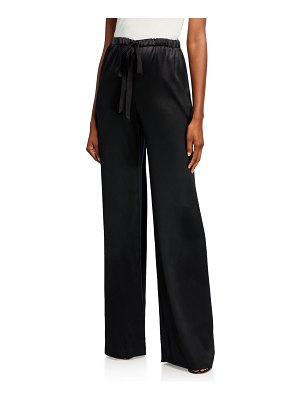 Naeem Khan Silk Drawstring Pants
