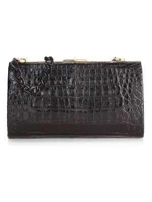 Nancy Gonzalez colette metallic crocodile frame clutch
