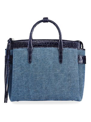 Nancy Gonzalez Cristie Small Linen Tote Bag