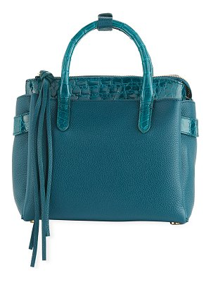 Nancy Gonzalez Cristy Mini Crocodile/Leather Tote Bag
