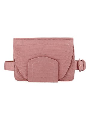 Nancy Gonzalez Crocodile Flap Belt Bag/Fanny Pack