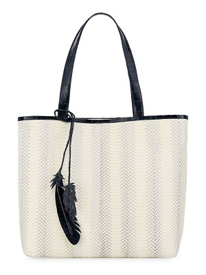 Nancy Gonzalez Erica Two-Tone Snake/Crocodile Tote Bag