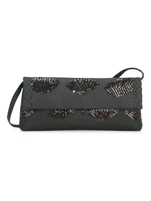 Nancy Gonzalez gotham sequin python clutch